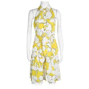 Diane Von Furstenberg yellow halter dress